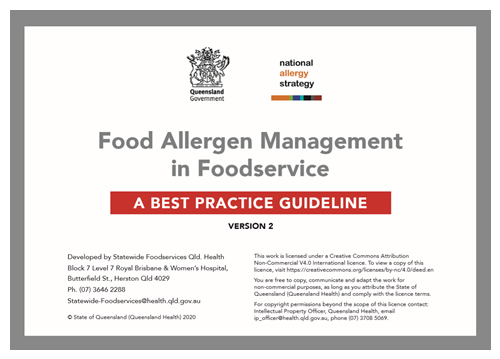 Food Allergen Management in Foodservice