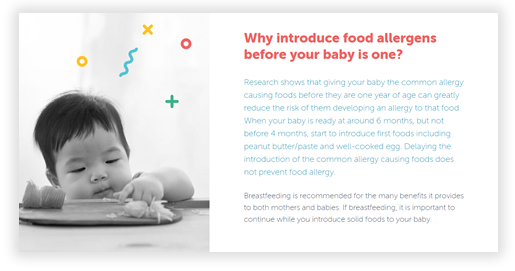 Why introduce food allergens before your baby is one?